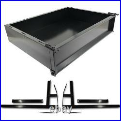E Z GO TXT Golf Cart Part Black Powder Coated Utility Cargo Bed Box