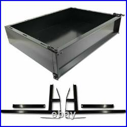 E Z GO TXT Golf Cart Part Black Powder Coated Utility Cargo Bed Box 1995-2020