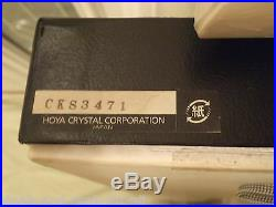 Extremely Rare Hoya Crystal Putter Golf Club Mint In Box Highly Collectable