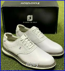 FootJoy 2021 Traditions Golf Shoes 57903 White 11.5 Medium (D) New in Box #85687