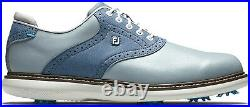 FootJoy Men's Traditions Golf Shoe, Grey/Blue, Size 10 Brand New In Box