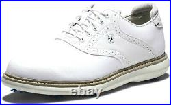 FootJoy Men's Traditions Golf Shoe, White/White, Size 10 Brand New In Box