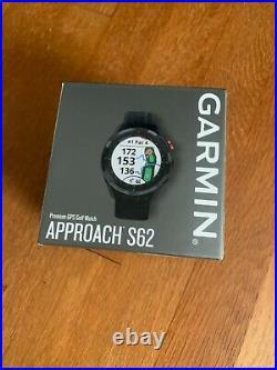 Garmin Approach S62 Premium GPS Golf Watch New in box