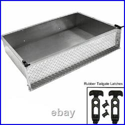 Golf Cart Aluminum Diamond Plate Utility Bed Cargo Box (CARGO BOX ONLY)