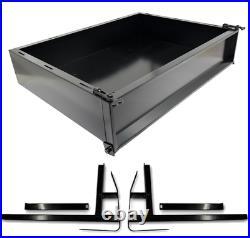 Golf Cart Cargo Box Ezgo TXT Black Steel includes Mounting Kit Free Shipping