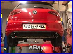 Golf MK7 2.0 GTD (without sound pack) Back Box Delete GTI Style DUAL EXHAUST