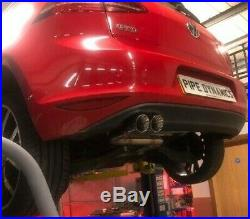 Golf MK7 2.0 GTD (without sound pack) Back Box Delete PIPE DYNAMICS EXHAUST I/R