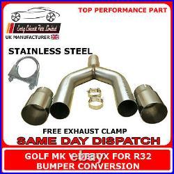 Golf Mk5 Deres Back Box Rear Delete Y-Pipe for Tdi R32 Bumper Conversion