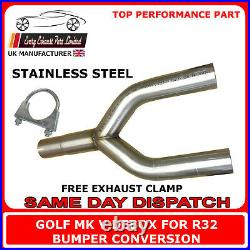 Golf Mk5 Deres Back Box Rear Delete Y Pipe for Tdi R32 Bumper Conversion