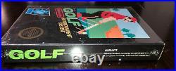 Golf Nintendo NES Brand New Circle Seal BLACK BOX Factory Sealed H-seam NIB