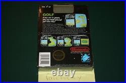 Golf (Nintendo NES) NEW SEALED BLACK BOX, EARLY PRINT CIRCLE SEAL, SUPER RARE