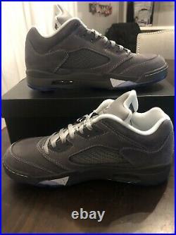 Jordan V low golf LT Graphite/Wolf Grey-White Golf Shoe, New with box