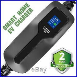 Level2 Electric Car EV Charger 32Amp Portable charging box EVSE J1772 NEMA 14-50