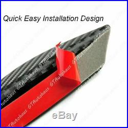Matte Black Carbon Fiber Pattern Trim Front Bumper Fins Diffuser Canard Splitter
