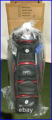 Motocaddy Dry Series Waterproof Cart Bag In Charcoal/Red BRAND NEW BOXED