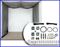 NEW 20x10x10 Indoor Golf Simulator Game Room Net with Corner Frame Pole Kit