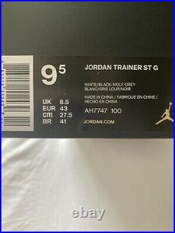 NIKE JORDAN TRAINER ST G GOLF SHOE White/Black-Wolf Grey US SIZE 9.5NEW IN BOX