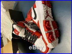 New Authentic Nike Air Jordan Retro 1 Golf Shoes Size 9.5 Chicago Red in Box