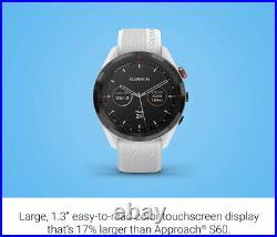 New Garmin Approach S62 Premium GPS Golf Watch White SEALED in retail Box
