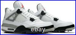 Nike Air Jordan 4 IV Retro G Mens Golf Shoes CU9981-100 White Cement 10.5M WithBOX