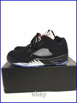 Nike Air Jordan 5 Low Golf Shoes Fire Red Metallic CU4523-003 No Box Top Size 10