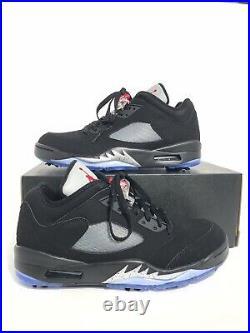 Nike Air Jordan 5 Low Golf Shoes Fire Red Metallic CU4523-003 No Box Top Sz 9.5