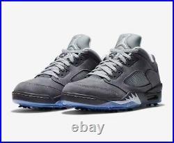 Nike Air Jordan 5 V Low Golf Shoes Size 12 Wolf Grey NEW IN BOX