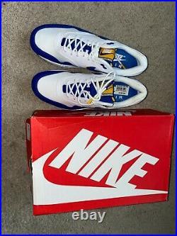 Nike Mens Air Max 1 SE Sz 9 Windbreaker White Game Royal AO1021-102 New w Box