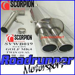 Scorpion Golf MK4 1.8T Stainless Rear Silencer Exhaust Back Box Twin New SVWB019