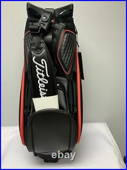 Titleist 2021 Jet Black Tour Golf Bag- Black/Red New In Box