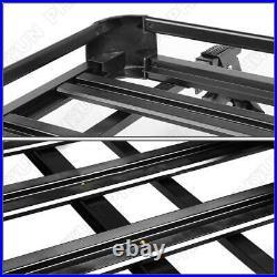 Universal Black Car Top Roof Rack Cross Bar Luggage Cargo Box Aluminum Alloy USA