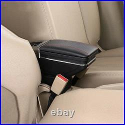 Universal Black PU Leather Car Seat Center Box Armrest Console Storage Organizer