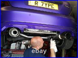 Universal sports exhaust bmw audi vw rear back box 320 325 330 335 golf polo a4