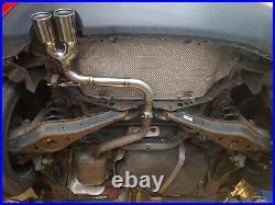 VW Golf MK6 1.4tsi (122bhp) Back Box Delete PIPE DYNAMICS exhaust BLACK CHROME