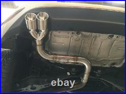 VW Golf MK7 1.4tsi 140bhp 150bhp 2014 + Back Box muffler Delete exhaust pipe