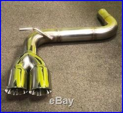 VW Golf MK7 2.0 GTD (without sound pack) Back Box Delete PIPE DYNAMICS EXHAUST