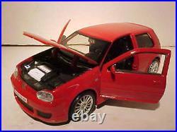 VW Volkswagen Golf R32 GTI Die-cast Car 124 Maisto 7 inches Red NO BOX, LOOSE