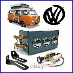 Volkswagen VW Under Dash Heater Box Assembly Copper Fittings 23-window split Bus