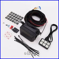 Waterproof 12V Car Boats 6LED Switch Panel Relay Control Box+Wiring Harness Kit
