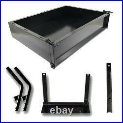 Yamaha Golf Cart Part Black Powder Coated Utility Cargo Bed Box Yamaha G14-G22